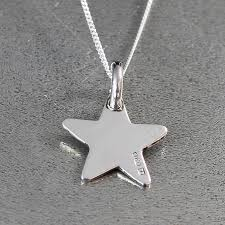 silver star necklace pendant images Initial silver star pendant by hersey silversmiths jpg