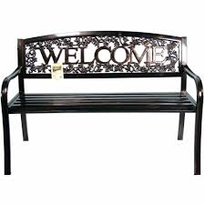 united general supply co metal welcome bench walmart com