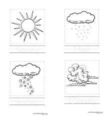 weather preschool printables