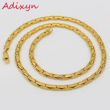 gold chain necklace wholesale images Adixyn gold chain men jewelry gold color round popcorn link chain jpg