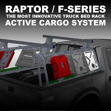 Ford Raptor Truck Bed Length - leitner designs active cargo system truck bed rack blue powered