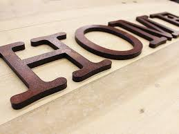 rustic metal faced wooden letters