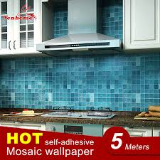 aliexpress com buy 5meter pvc wall sticker bathroom waterproof aliexpress com buy 5meter pvc wall sticker bathroom waterproof self adhesive wallpaper kitchen mosaic tile stickers for walls decal home decoration from