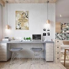 bureau gris blanc aménagement bureau à la maison en 52 idées décoratives
