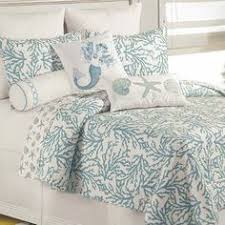 Coastal Bedding Sets Cora Blue Coral Cotton Coastal Quilt Bedding Guest Bedroom Http