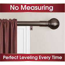 Curtain Rods Installation Smart Rods Easy Install Curtain Curtain Rod Finial Walmart