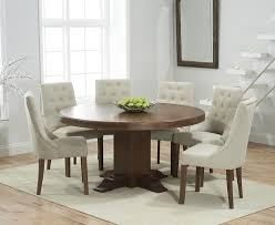Pedestal Dining Table For 6 Buy Mark Harris Turin Solid Dark Oak Dining Set 150cm Round