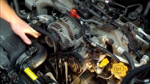 how to replace both subaru drive belts youtube