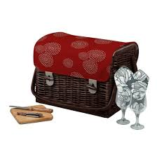 Wine And Cheese Basket Picnic Time 6pc Kabrio Wine U0026 Cheese Basket Target