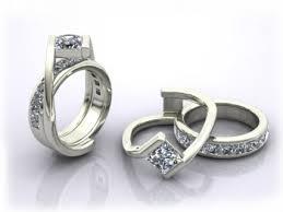 interlocked wedding rings custom interlocking wedding ring and engagement ring omg how