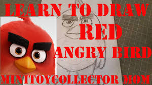 learn to draw red from new angry birds movie easy step by step