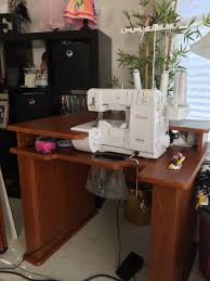 koala sewing machine cabinets used babylock ovation serger and koala cabinet in action koala studios