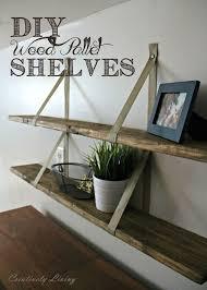 Pallet Wood Bookshelf Diy Wood Pallet Shelves Hometalk