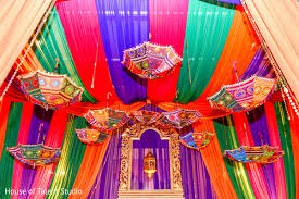 decoration for indian wedding garba stage umbrella decoration in edison nj indian wedding by
