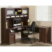 L Shaped Computer Desk With Hutch Bush Tuxedo Cherry L Shaped Computer Desk With Optional Hutch