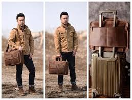 Mens Travel Bag images Handmade genuine natural leather luggage bag travel bag 15 jpg