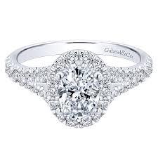 oval engagement ring with halo skylar 14k white gold oval halo engagement ring er12332w44jj