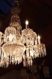 Crystal Chandelier Circa 1900 Mitchell Vance Combination Gas Electric Crystal