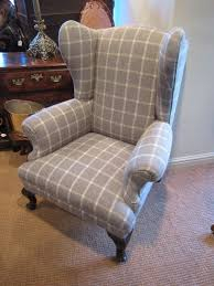 Check Armchair Stylish George Iii Upholstered Wing Armchair 258991