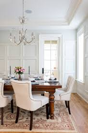 dining room wall molding dining room traditional with tufted