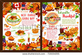 happy thanksgiving day greeting posters banners stock vector