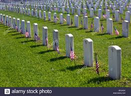 Flags Houston Veteran Cemetery Headstone Flag Rows Fort Sam Houston San