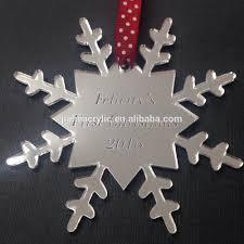 silver mirror snowflake acrylic christmas decoration tree