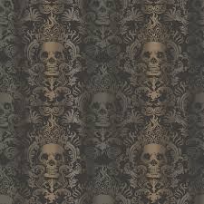 luther sand skull modern damask wallpaper wallpaper eclectic