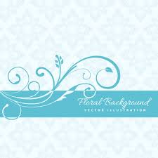 Tiffany Blue Flowers Blue Floral Background Vector Free Download