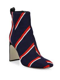womens boots navy rag bone ellis striped wool ankle boots navy stripe s