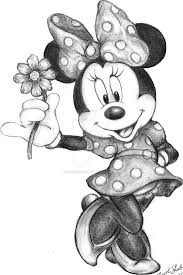 pencil sketches mickey minnie mouse drawing sketch