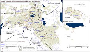 Middle East Map Capitals by Detailed Map Of Kurdish Kingdoms Autonomous Principalities And