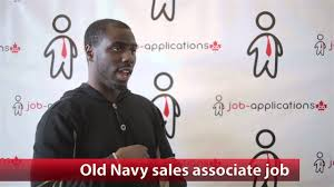 old navy sales associate job youtube