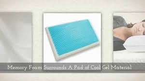 memory foam pillow with cool gel cooling pad youtube