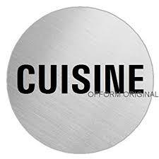 pictogramme cuisine ofform plaque de porte en acier inox brossé pictogramme cuisine ø