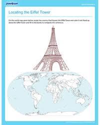 locating the eiffel tower u2013 printable social studies worksheet for