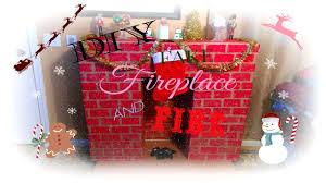 christmas diy pinterest inspired fake fireplace u0026 fire youtube