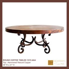 coffee table round copper top dining table 36 inch coffee
