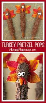 thanksgiving treats chocolate turkey pretzel pops