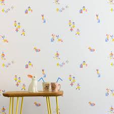 tangram u0027 geometric children u0027s wallpaper by wallplayper