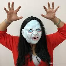 halloween mask horror ghost masks zhen son latex mask black long