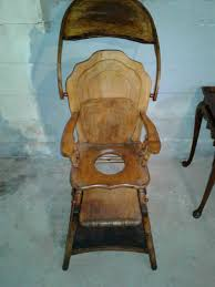 Antique Wood High Chair Antique 1930 U0027s Wooden High Chair Convertible In Atlantic
