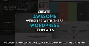 wordpress templates with drag and drop editing on themeforest