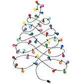 lighted christmas tree garland clip art of christmas tree garland k15283287 search clipart