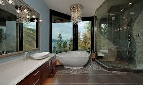 Modern Bathroom Chandeliers Sparkling Ways Of Adding A Chandelier To Your Bathroom