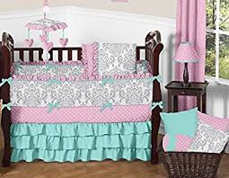 Jojo Crib Bedding Sweet Jojo Designs 9 Boutique Skylar Turquoise