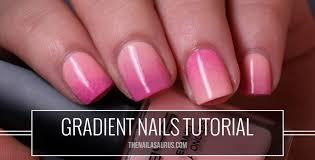 gradient nails picture tutorial the nailasaurus uk nail art blog