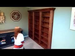 How To Make A Secret Bookcase Door Hidden Bookcase Door To Secret Room Youtube