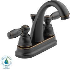 Peerless Bathroom Faucet by Shop Peerless Apex Oil Rubbed Bronze 2 Handle 4 In Centerset