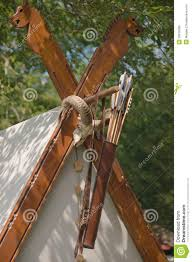 Wooden Tent by The Wooden Decoration Of The Viking Tent Stock Photo Image 39016366